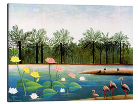 Aluminiumtavla  The flamingos - Henri Rousseau