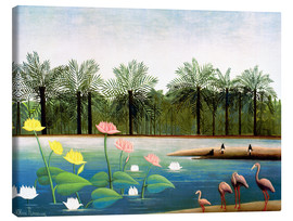 Canvastavla  The Flamingos - Henri Rousseau