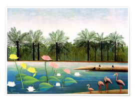 Premiumposter  The Flamingos - Henri Rousseau