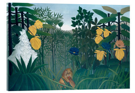 Akrylglastavla  The meal of the lion - Henri Rousseau