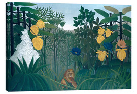 Canvastavla  The meal of the lion - Henri Rousseau