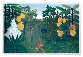 Premiumposter  The meal of the lion - Henri Rousseau