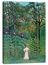 Canvastavla  Woman in an exotic forest - Henri Rousseau