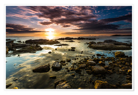 Premiumposter Sunrise Lake Malawi Africa