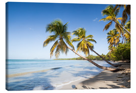 Canvastavla  Famous Les Salines tropical beach with palm trees, Martinique, Caribbean - Matteo Colombo