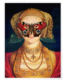 Premiumposter  The butterfly mask (by Hans Holbein)