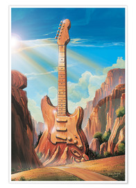 Premiumposter  Guitar Rock - Georg Huber