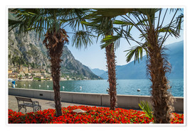 Premiumposter LAKE GARDA Gorgeous Riverside in Limone sul Garda