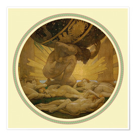Premiumposter  Atlas and the hesperides - John Singer Sargent