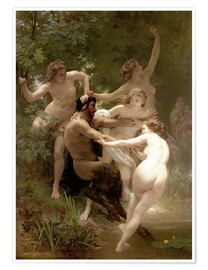 Premiumposter Nymphs and Satyr