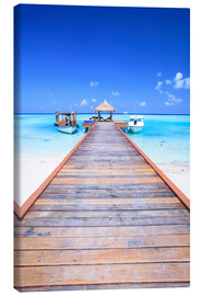 Canvastavla  Pier into the ocean, Maldives - Matteo Colombo