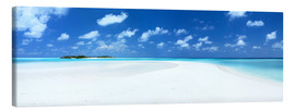 Canvastavla  Beach Panorama, Maldives - Matteo Colombo