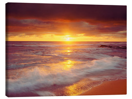 Canvastavla  Sunset on the Pacific - Jaynes Gallery