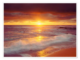 Premiumposter  Sunset on the Pacific - Jaynes Gallery
