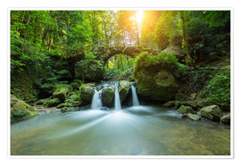 Premiumposter  romantic waterfall - rclassen