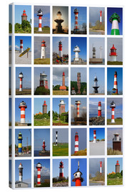 Canvastavla  Lighthouses - Sarnade
