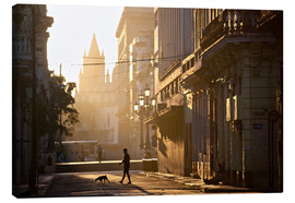 Canvastavla  Road at dawn, Havana - Lee Frost