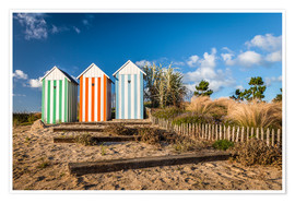 Premiumposter  Colorful beach huts in Brittany (France) - Christian Müringer