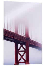 Akrylglastavla  Golden Gate Bridge in the fog - Jean Brooks