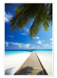 Premiumposter  Jetty, Maldives - Sakis Papadopoulos
