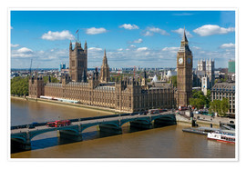 Premiumposter  Westminster Bridge with Houses of Parliament - Walter Rawlings