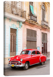 Canvastavla  Restored American car, Havana - Lee Frost