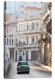 Canvastavla  Taxi driving in Havana - Lee Frost