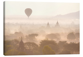 Canvastavla  Balloon above the Bagan temples - Lee Frost