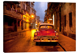 Canvastavla  Red vintage American car in Havana - Lee Frost