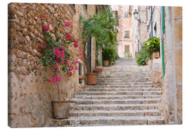 Canvastavla  Gasse in Fornalutx, Mallorca - Ruth Tomlinson
