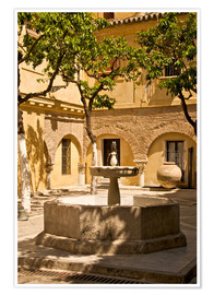 Premiumposter  Terrace with fountain in Seville - Guy Thouvenin