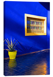 Canvastavla  Blue house, Majorelle Garden - Guy Thouvenin