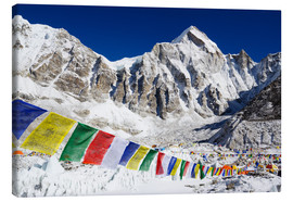 Canvastavla  Prayer flags at the case camp of Mount Everest - Christian Kober
