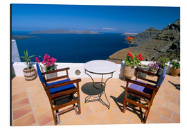 Aluminiumtavla  Fira, island of Santorini (Thira), Cyclades Islands, Aegean, Greek Islands, Greece, Europe - Sergio Pitamitz