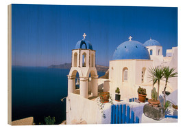 Trätavla  Oia (Ia), island of Santorini (Thira), Cyclades Islands, Aegean, Greek Islands, Greece, Europe - Sergio Pitamitz