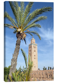 Canvastavla  Minaret of the Koutoubia Mosque, UNESCO World Heritage Site, Marrakech, Morocco, North Africa, Afric - Nico Tondini