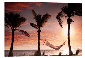 Akrylglastavla  Hammock on the beach, Florida - Angelo Cavalli