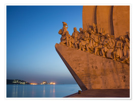 Premiumposter  Monument to Discoveries, Belem, Lisbon, Portugal, Europe - Angelo Cavalli