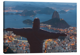 Canvastavla  Christ the Redeemer, Corcovado - Angelo Cavalli