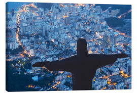 Canvastavla  Statue of Christ the Redeemer, Corcovado, Rio de Janeiro, Brazil, South America - Angelo Cavalli