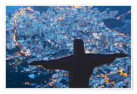 Premiumposter  Statue of Christ the Redeemer, Corcovado, Rio de Janeiro, Brazil, South America - Angelo Cavalli