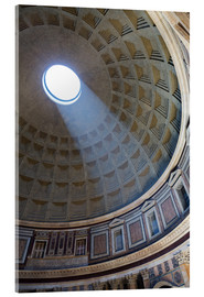 Akrylglastavla  A shaft of light through the dome of the Pantheon, UNESCO World Heritage Site, Rome, Lazio, Italy, E - Martin Child