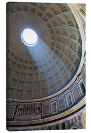 Canvastavla  A shaft of light through the dome of the Pantheon, UNESCO World Heritage Site, Rome, Lazio, Italy, E - Martin Child