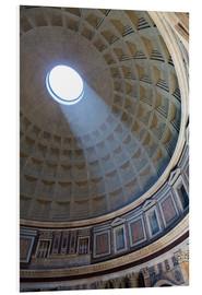 PVC-tavla  A shaft of light through the dome of the Pantheon, UNESCO World Heritage Site, Rome, Lazio, Italy, E - Martin Child