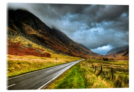 Akrylglastavla  Road in Glencoe, Scotland - David Wogan