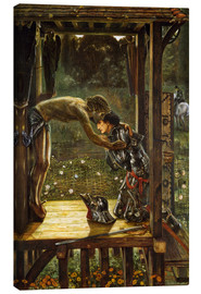 Canvastavla  The Merciful Knight - Edward Burne-Jones