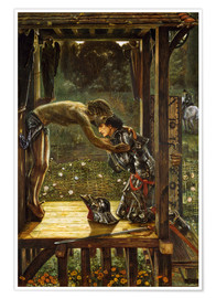 Premiumposter  The Merciful Knight - Edward Burne-Jones