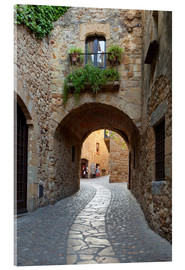 Akrylglastavla  Alley in Pals, Catalonia - Stuart Black