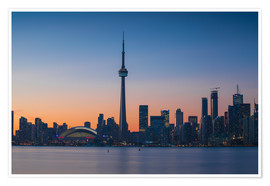 Premiumposter  View of CN Tower and city skyline, Toronto, Ontario, Canada, North America - Jane Sweeney
