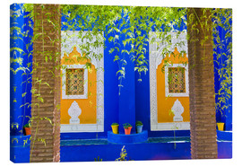 Canvastavla  Windows in the Majorelle Gardens - Matthew Williams-Ellis